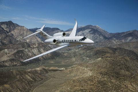 Cessnas schneller Businessjet Citation X+ im Flug. (Foto: Cessna)