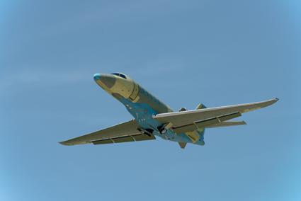 Das zweite Latitude-Serienexemplar beim Jungfernflug. (Foto: Cessna)
