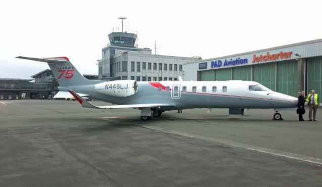 Zwei Geschäftstermine irgendwo in Europa innerhalb weniger Stunden: Flugzeuge wie der neue Learjet 75 machen's möglich. Foto: Aeroscope