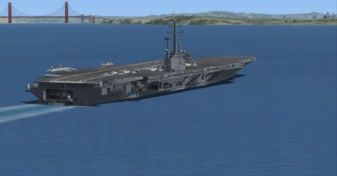 Die Nimitz ist der erste Träger, der an die US Navy ausgeliefert wurde. Der ca. 101 Tonnen schwere Koloss befindet sich seit 1975 im Dienst und hat über 11 Einsätze gefahren. Foto: Boger, FSX