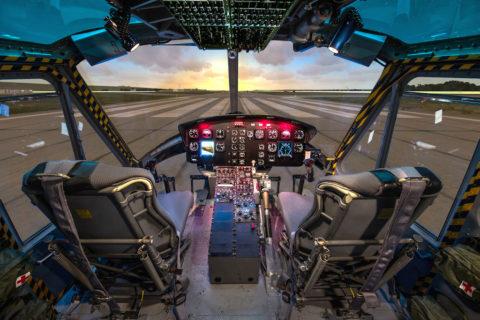 Nach über 3 1/2-jährigem Bestehen kommt nun eine neue, in Europa einzigartige Attraktion hinzu: Der Bell UH-1 Heli-Simulator. Bild: Happy Landings