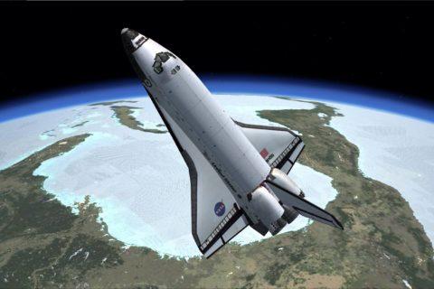 Die Cockpitansicht des Space Shuttles Atlantis. Foto: Boger, FSX