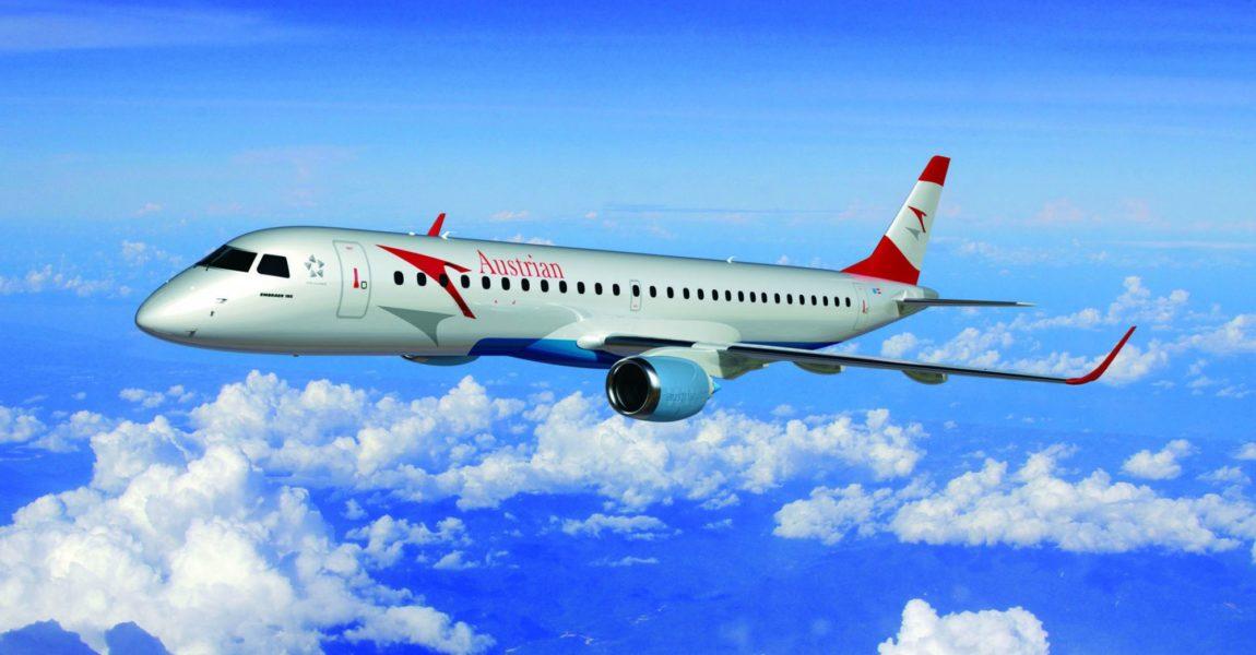 Noch in diesem Jahr soll vorbehaltlich der Entscheidungen im Austrian Aufsichtsrat am 19.3.2015 mit der Umflottung der Austrian Fokker-Flugzeuge durch Mittelstreckenjets des Herstellers Embraer gestartet werden. Bild: Austrian Airlines