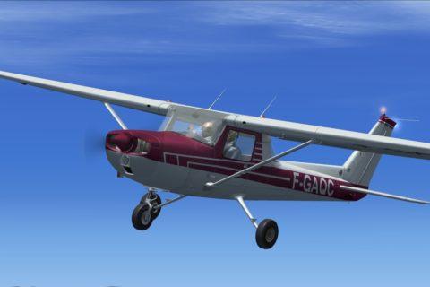 Die Cessna C150 ist eines der populärsten Schulungsflugzeuge. Foto: Boger, FSX