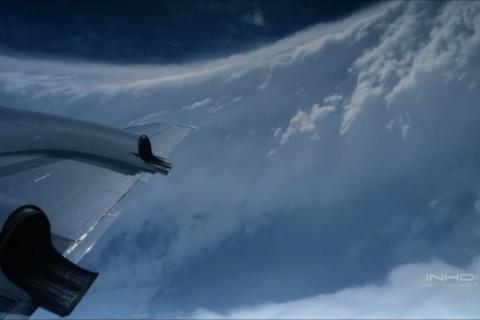 Blick auf einen Hurrikan aus dem All. Foto: Pexels