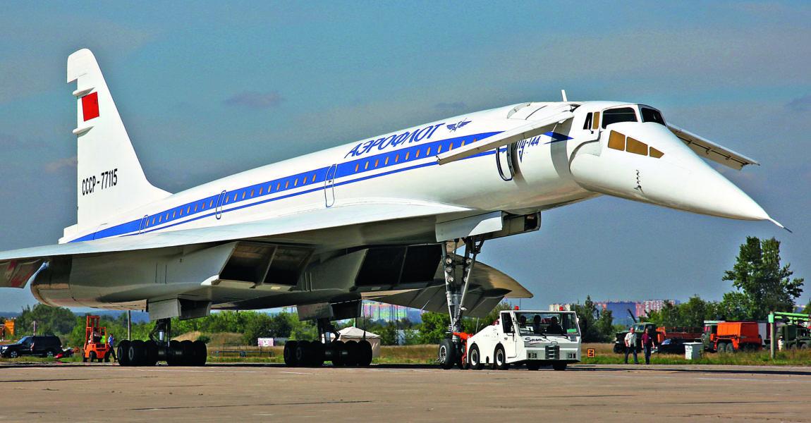 Trasporto supersonico: Tupulev TU-144 di Aeroflot; Credits: aerointernational.de
