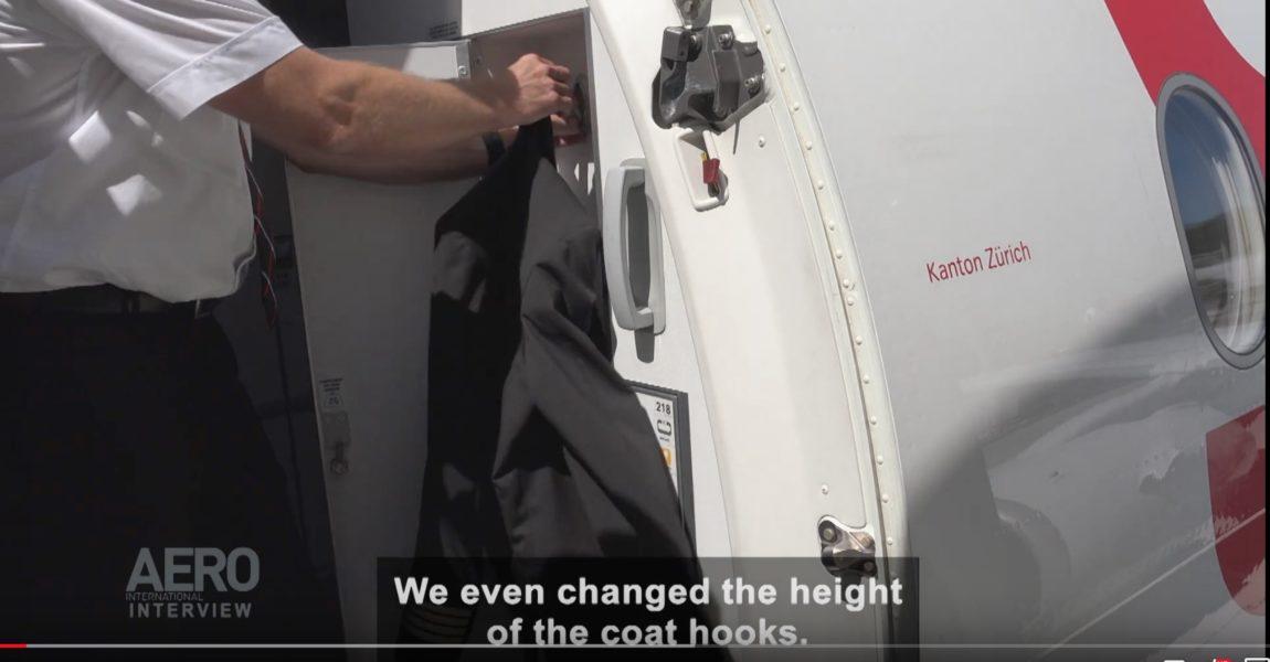 Wichtige Details: Swiss hat den Sitz der Garderobenhaken am A220 mit beeinflusst