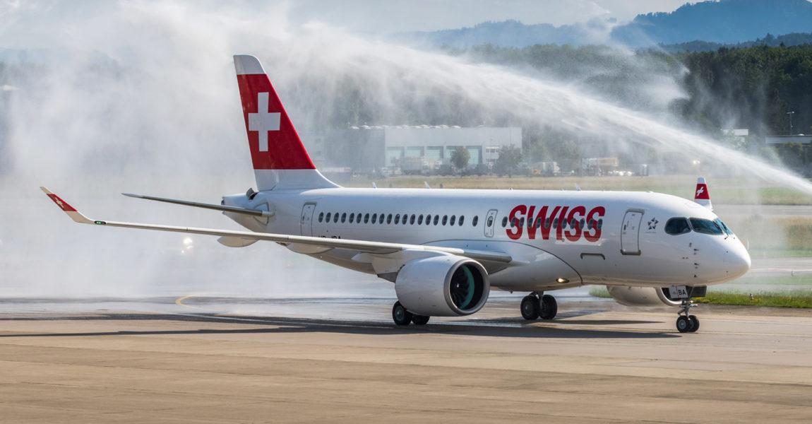 Swiss setzt die kleinere Version A220-100 des ehemaligen Bombardier-Flugzeugs ein