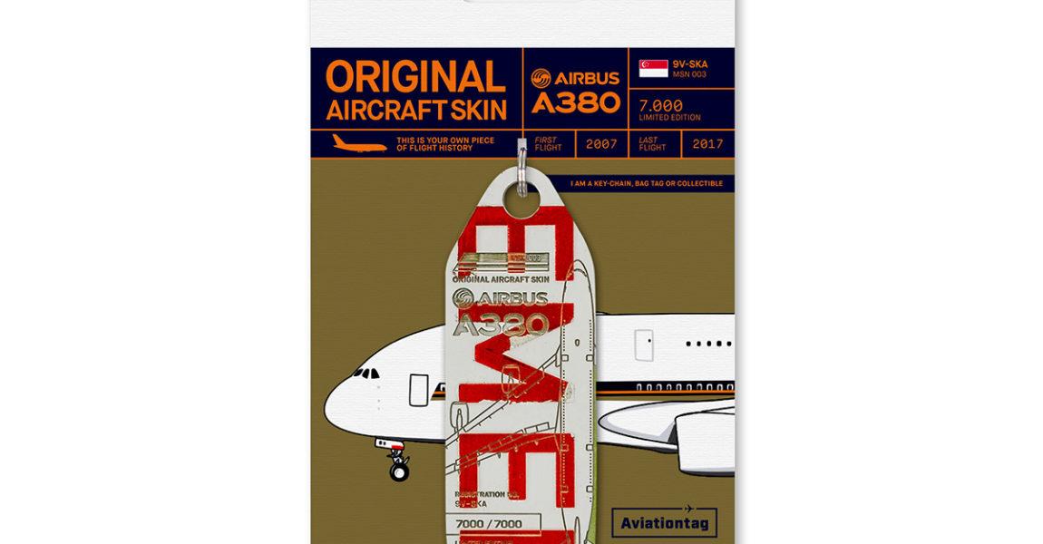 Aviationtags der ersten Airbus A380 Aviationtag Edition und ein exklusives Designer-It-Piece aus dem Hause bordbar gehen für den guten Zweck an Mitsteigerer!
